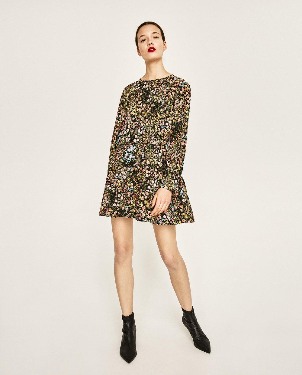 Zara: short floral jumpsuit, £29.99