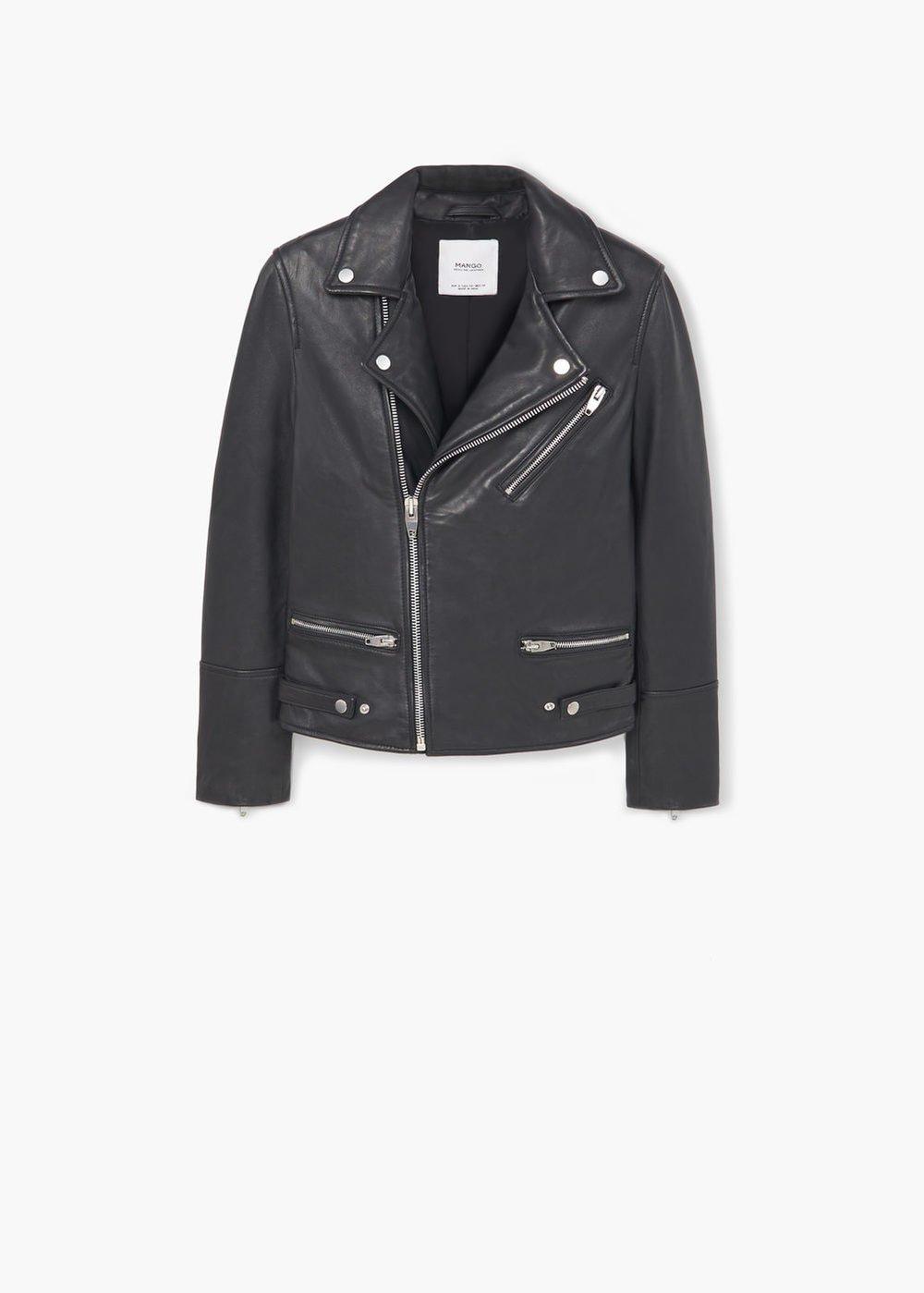 Mango: leather jacket, £119