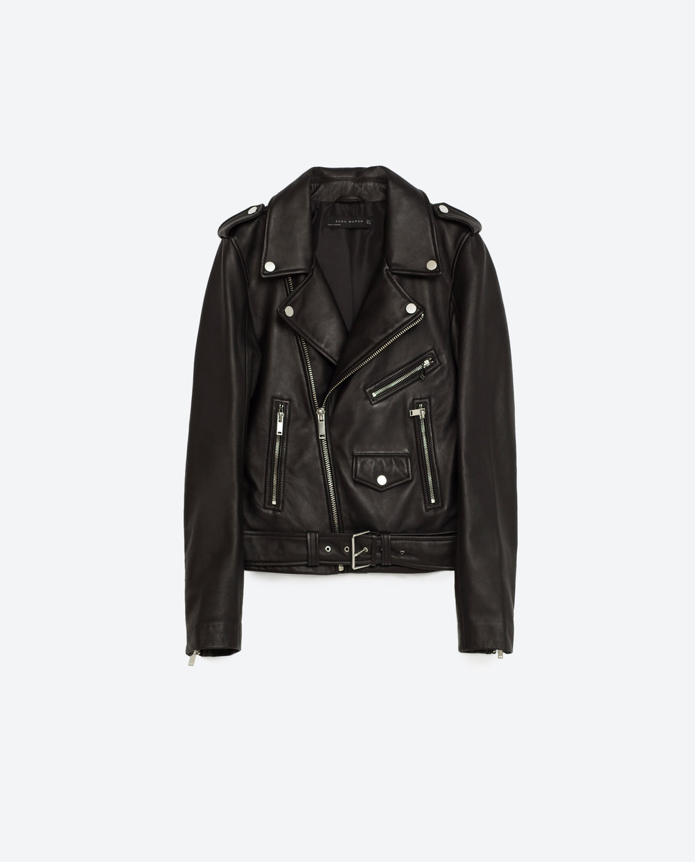 Zara: leather jacket, £119