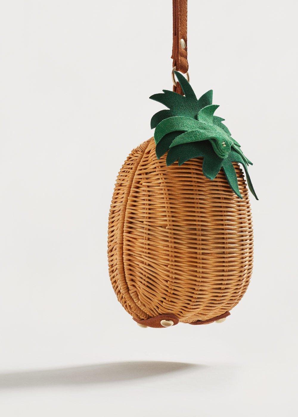 Mango: pineapple raffia clutch, £35.99
