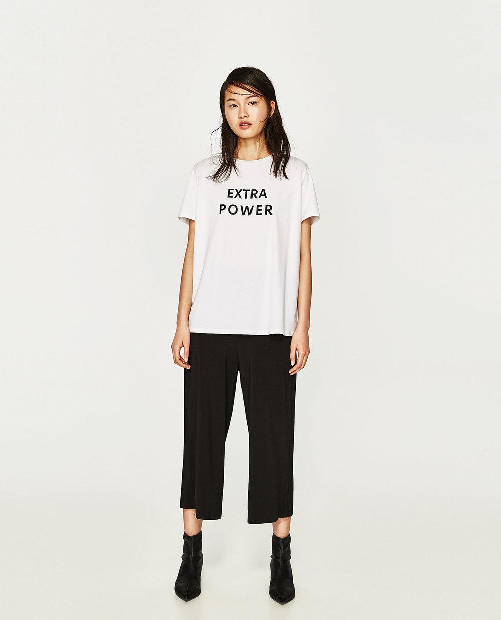 Zara: slogan print t-shirt, £12.99