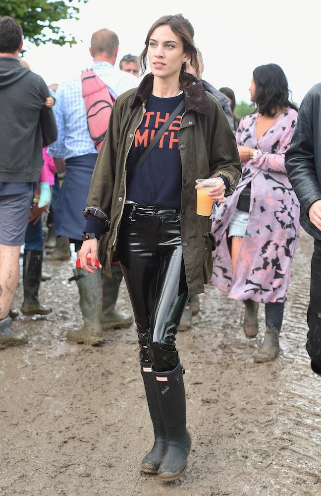 GETTY Alexa Chung at Glastonbury