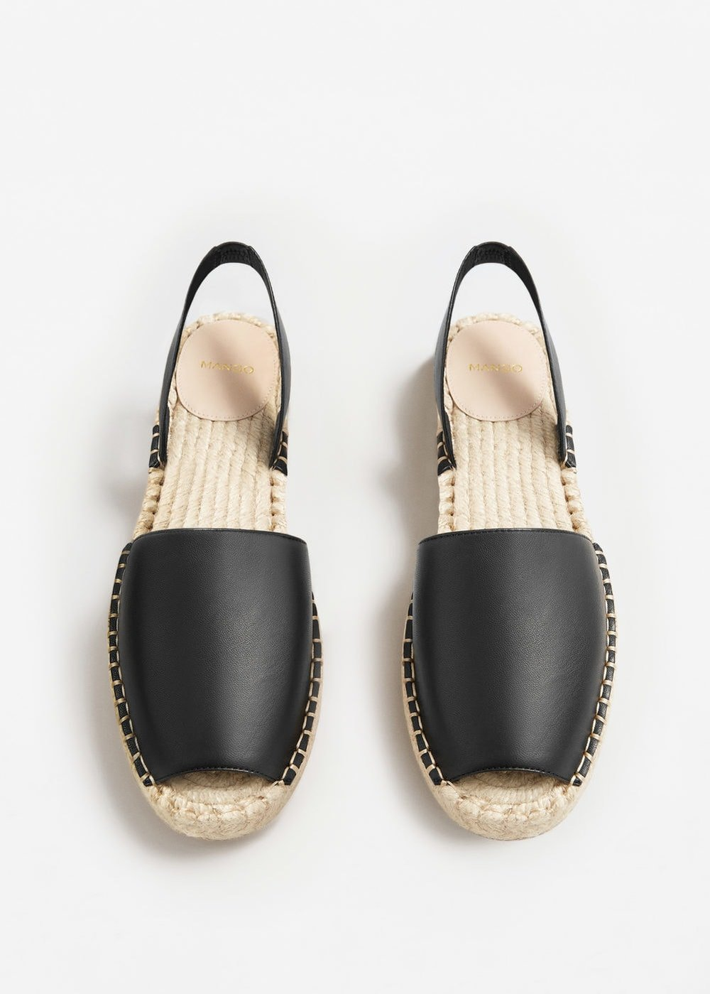 Leather Blend Espadrilles, Mango, £35.99