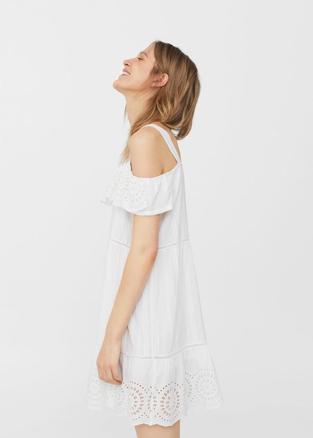 Openwork panel dress, £39.99