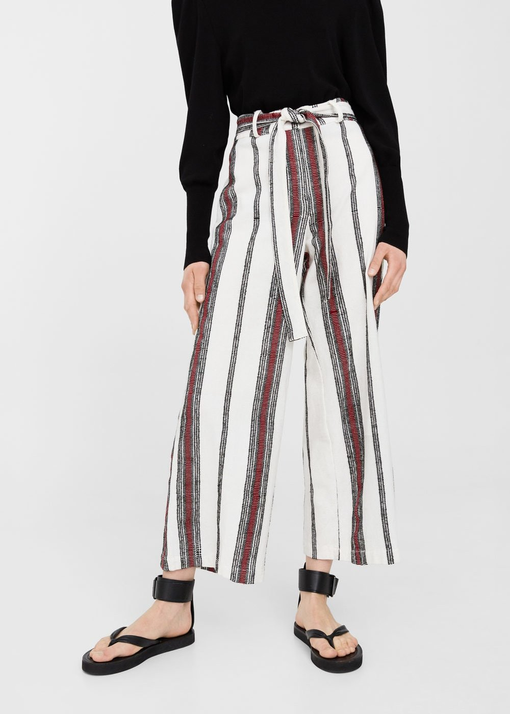 Striped cotton trousers, £29.99