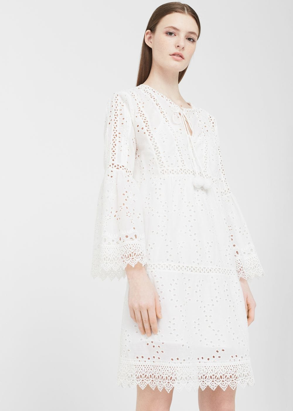 Openwork cotton dress, £39.99