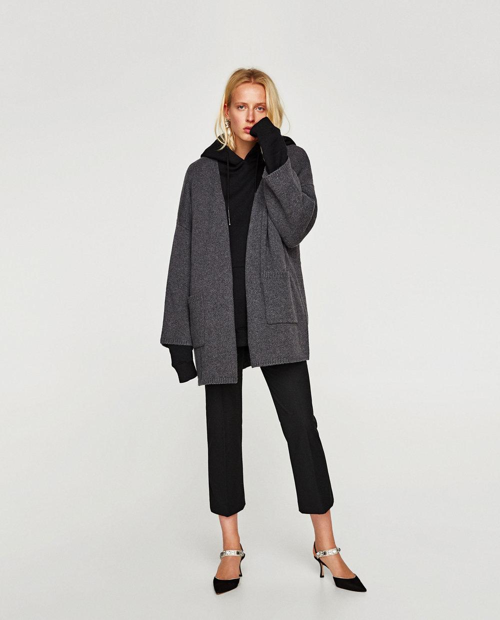 Zara Oversized Jacket With Pockets