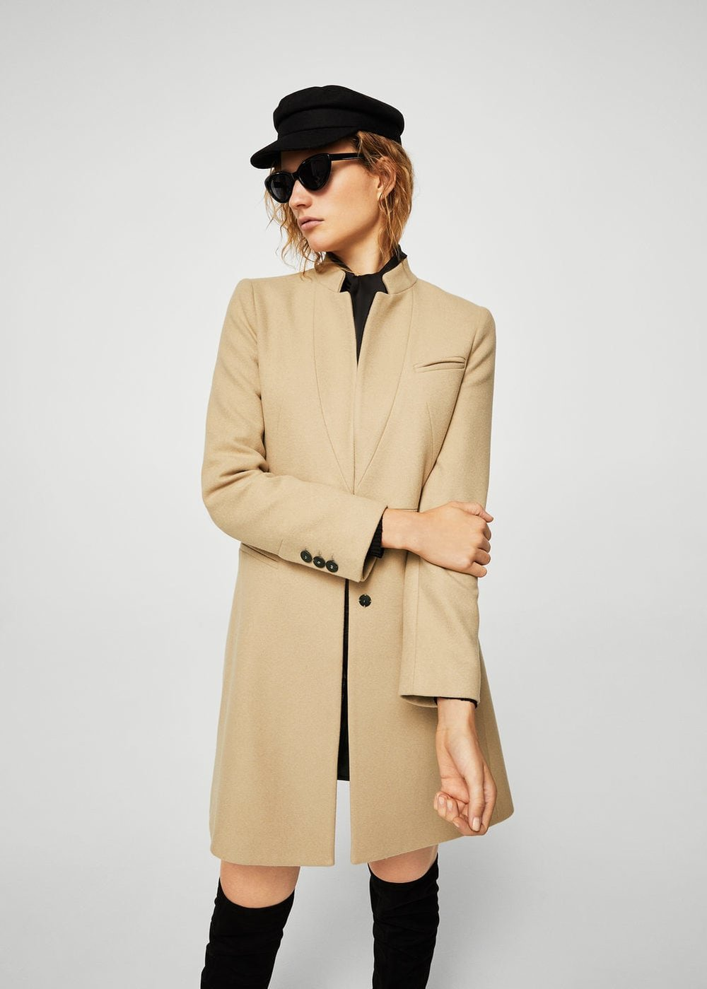 Pocketed Wool Coat, Mango, £139.99