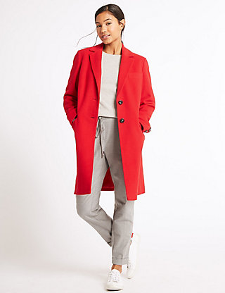 Two Pocket Wool Rich Coat, M&S, £119