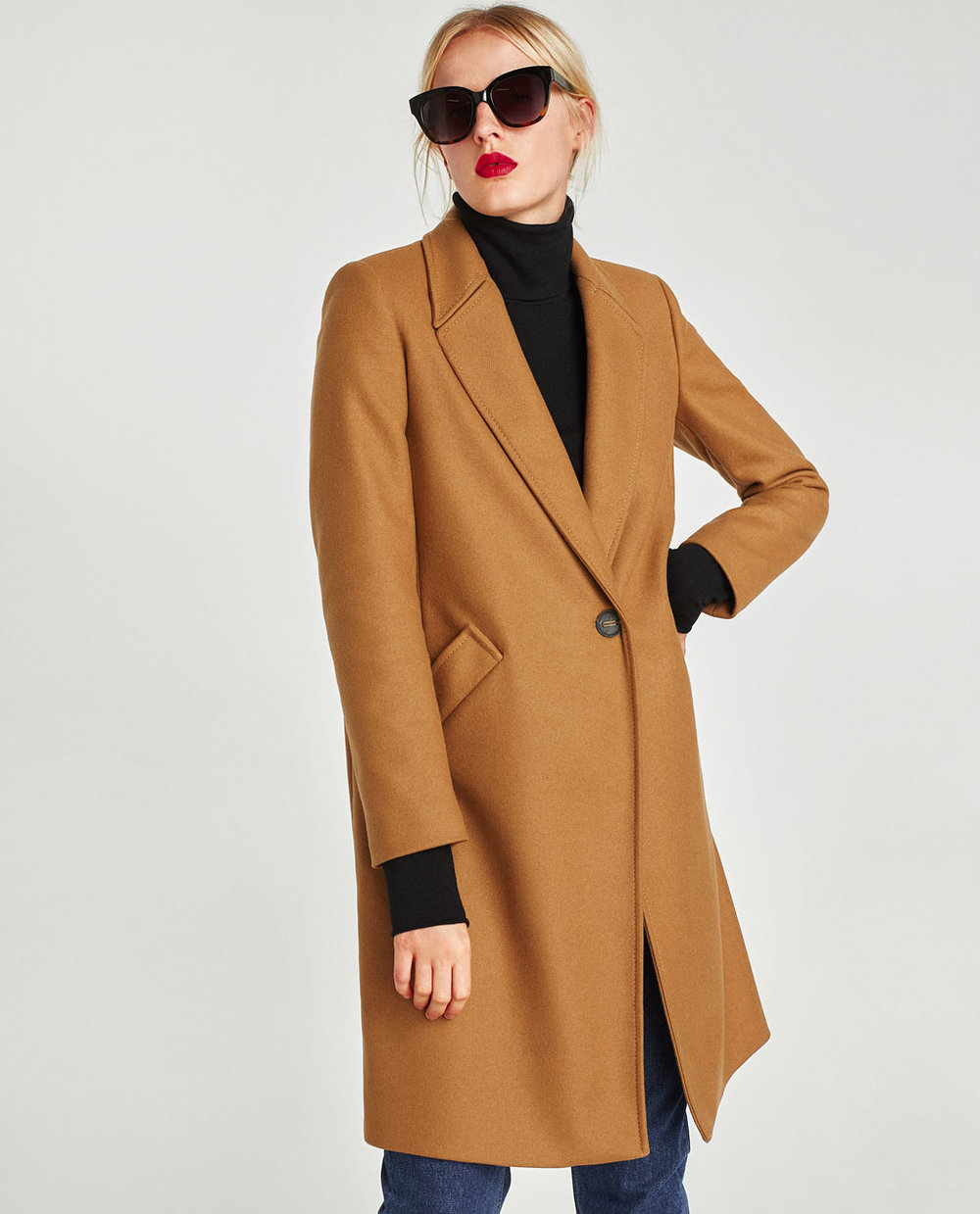 Masculine Wool Coat, Zara, £95.99