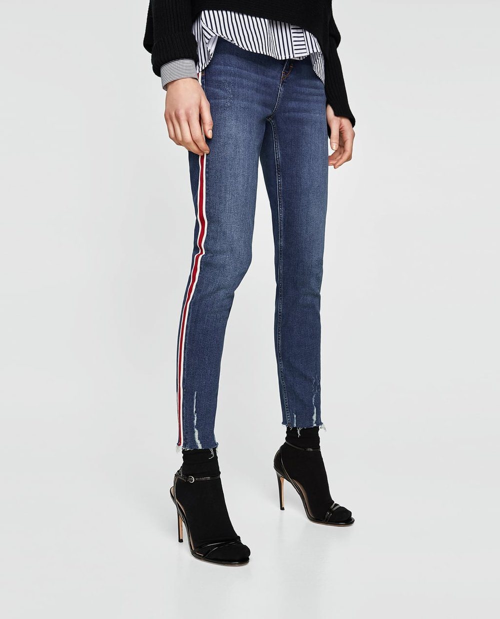 Jeans With Side Stripe, Zara, £25.99