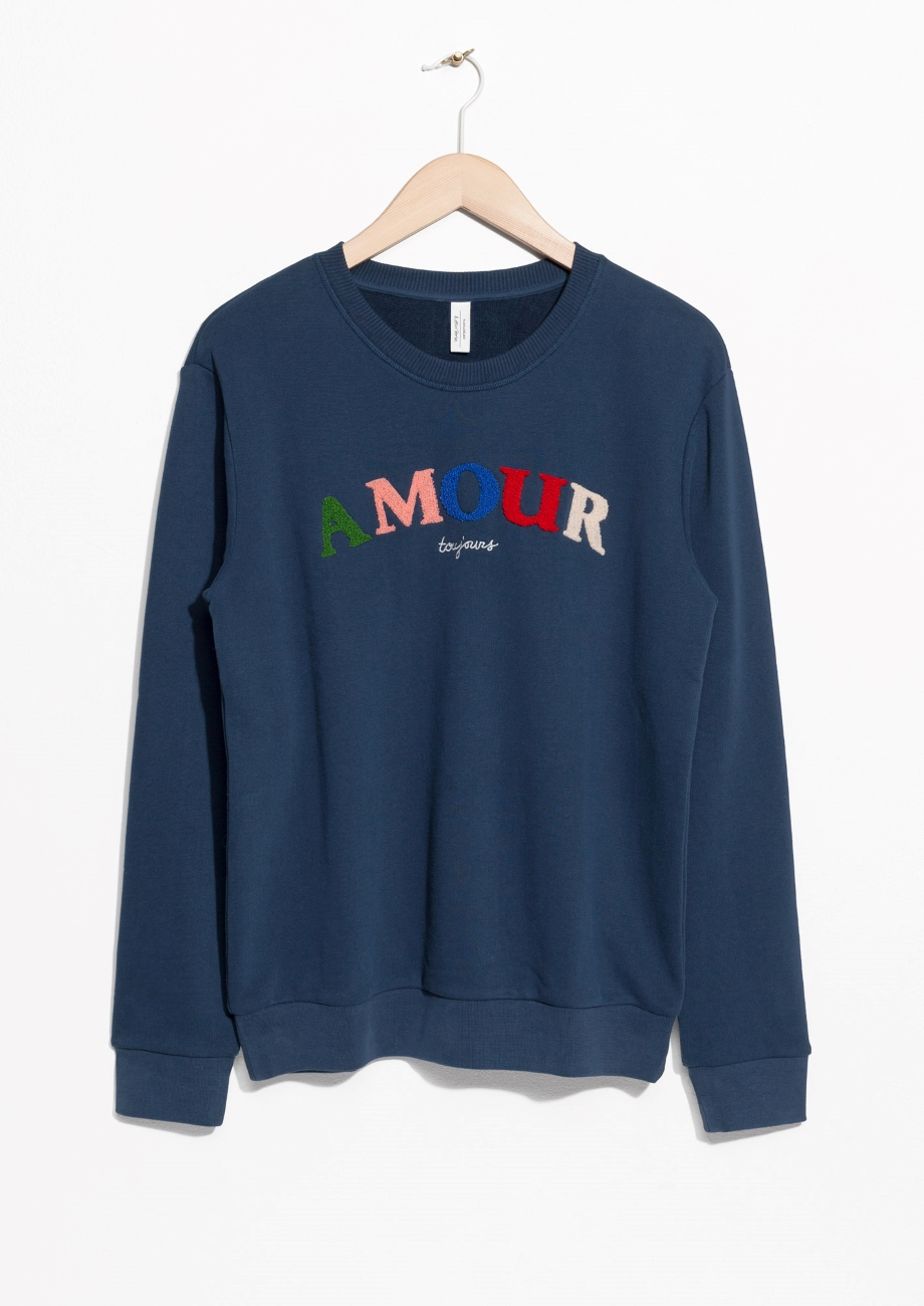Embroidered Fleece Sweatshirt, & Other Stories, £49
