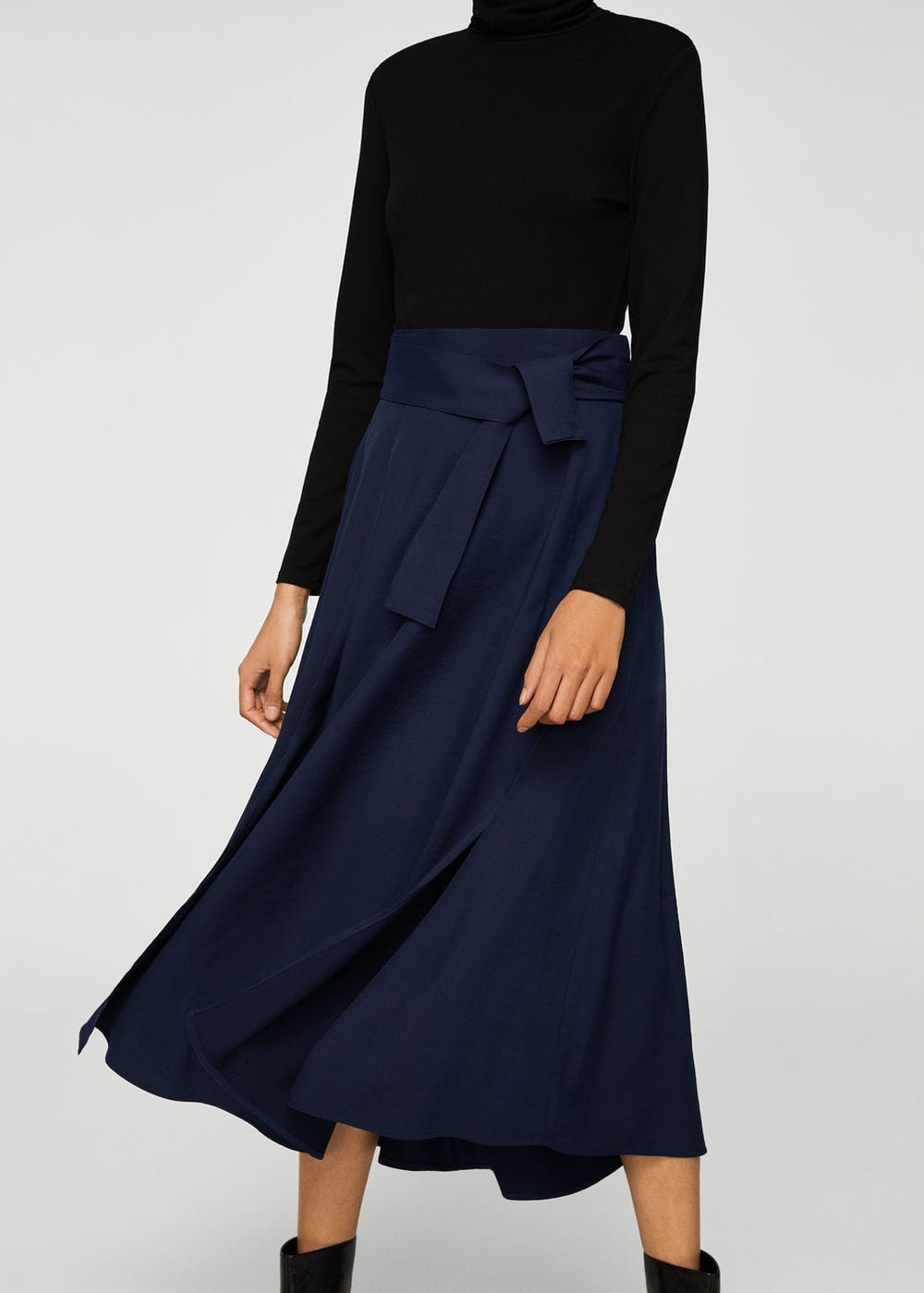 Belt Long Skirt, Mango, £49.99