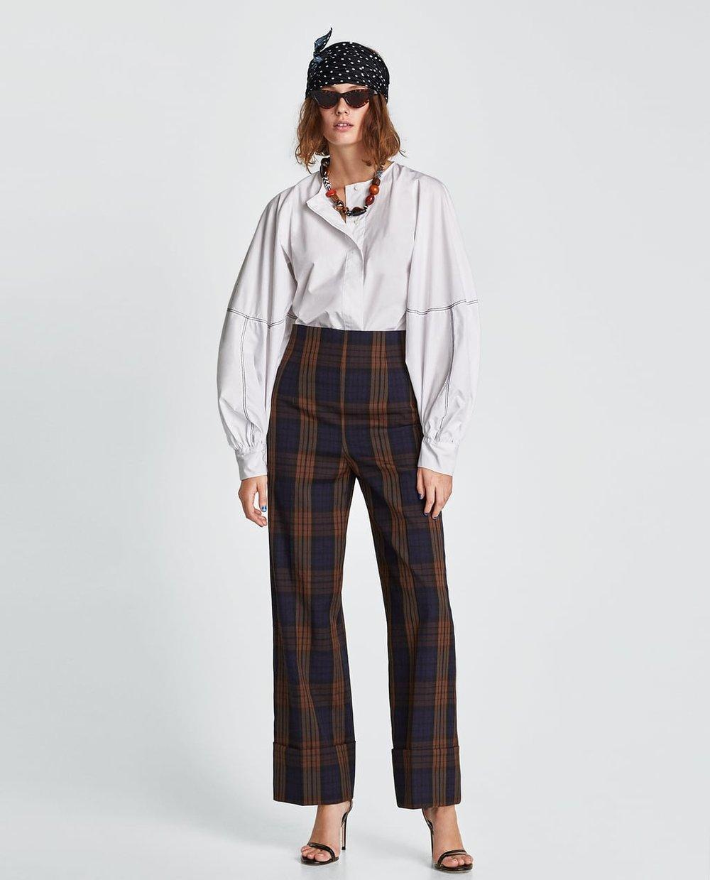 Checked Trousers, Zara