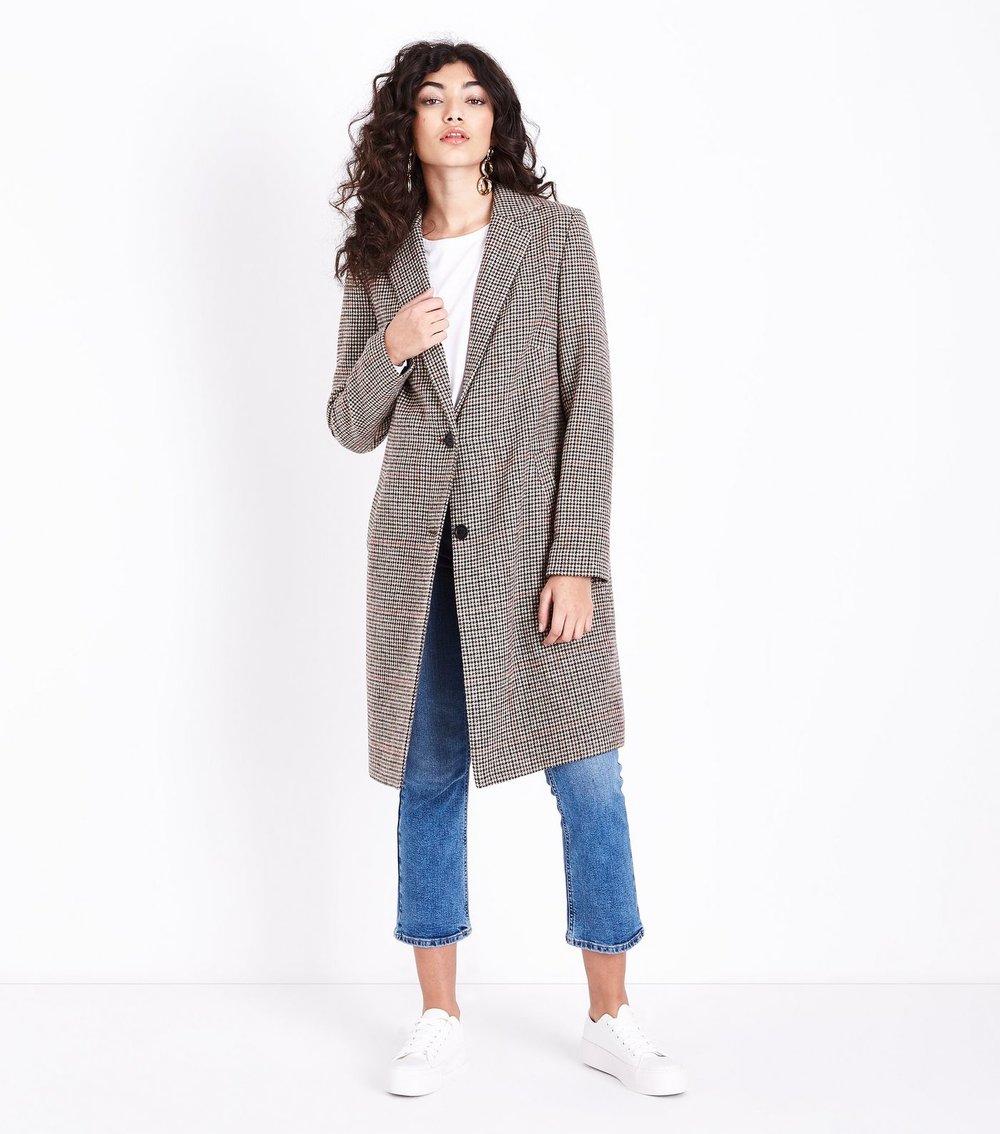 Houndstooth Coat, New Look