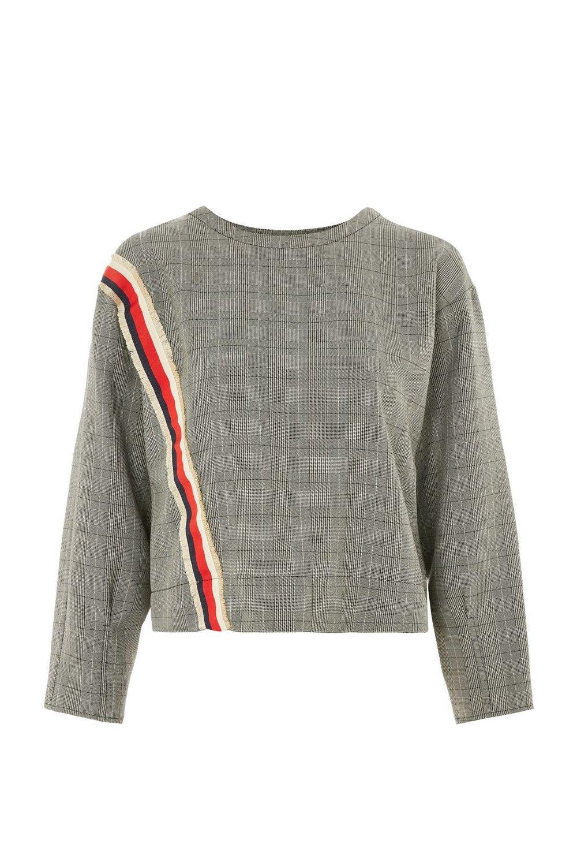 Checked Sweatshirt, Top Shop