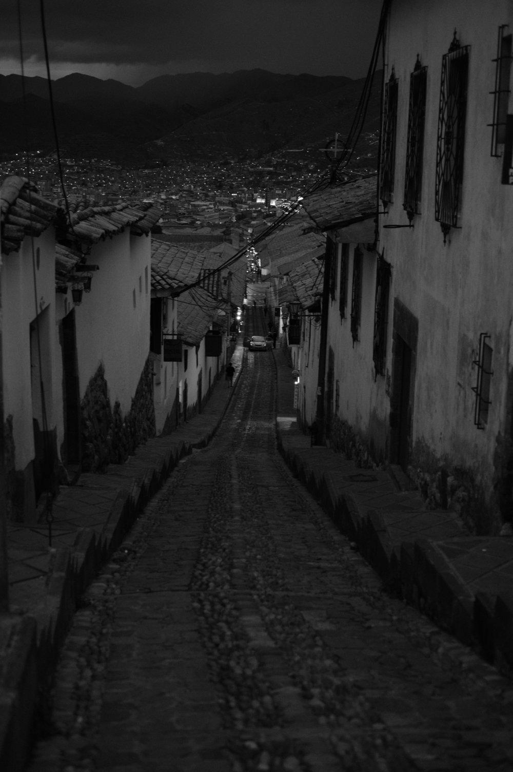 Descida de  Sacsayhuaman  para Cusco
