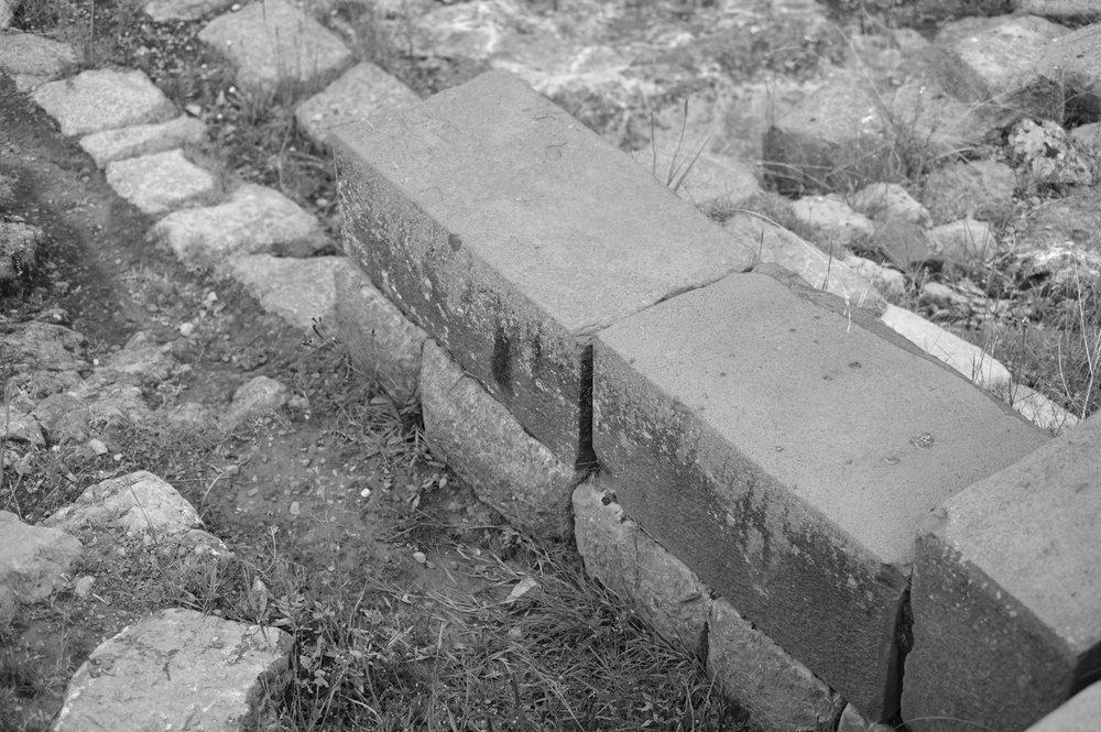 Detalhe do trabalho Impressionante nas pedras.