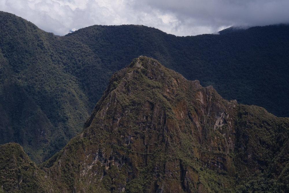Montanha de Huyana Picchu vista da Porta do Sol - Fuji XT2