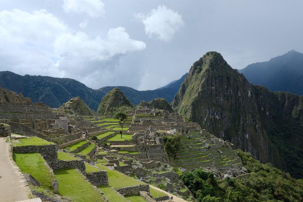 Vista da Chegada às ruínas de Machu Picchu - Fuji XT2 SOOC