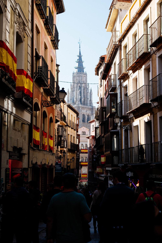 Catedral de Toledo vista das ruas