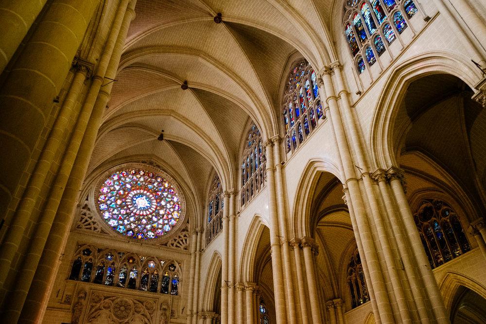 Detalhes de dentro da Catedral de Toledo