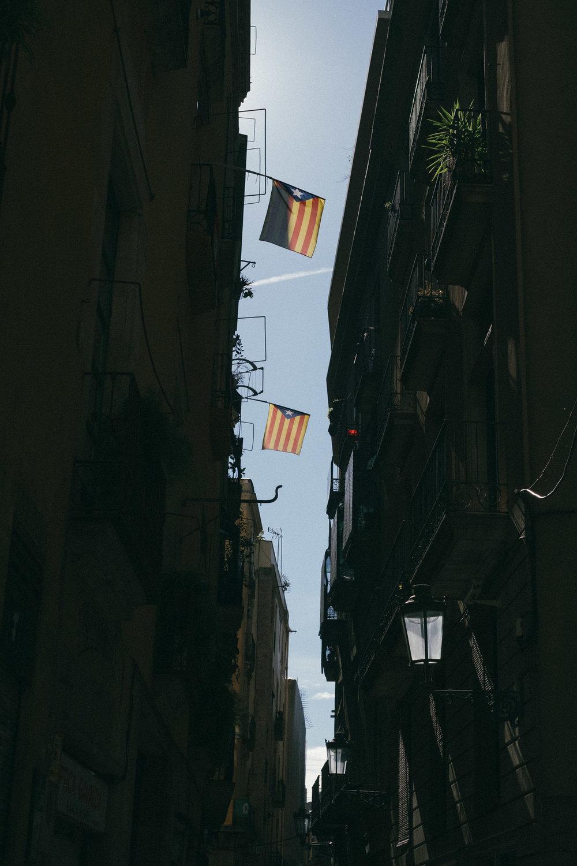 Ruas da capital Catalã -
