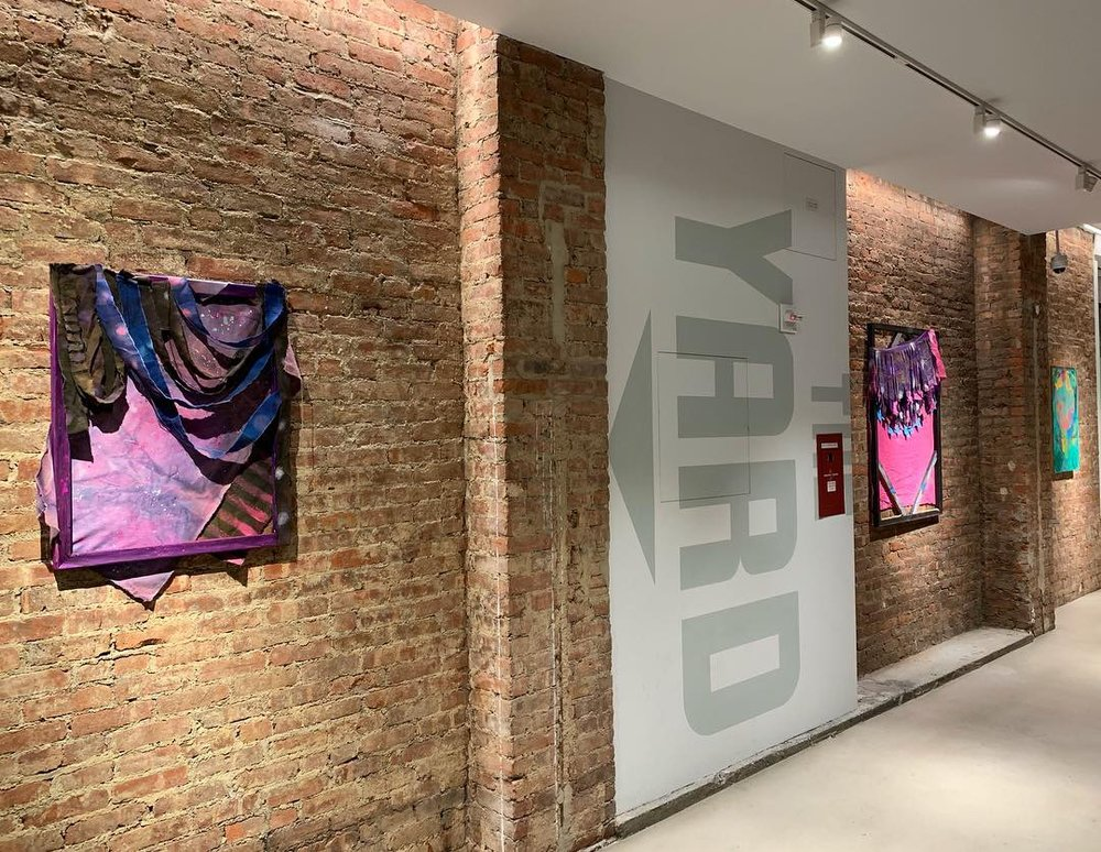 Left to right: Jamie Powell,  Oh No Let's Go!  (2017) and  Pinky Bruiser  (2016); Melissa Staiger,  Expansion III  (2015)