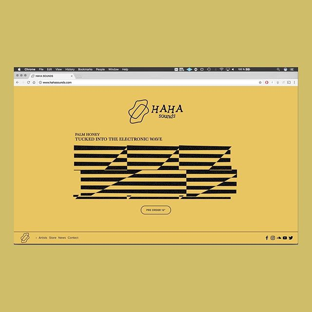 Hey have you seen our new website? www.hahasounds.com #website #hahasounds #london #yellow #squarespace #recordlabel