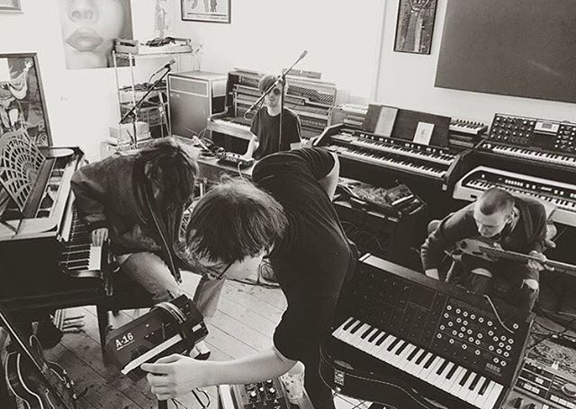 Can't wait to hear new music from @palmhoneyband. Here they are recording at @thewiltonwaystudio earlier this week with @sydkemp #newmusic #studio #recording #bands #regram #recordlabel #london