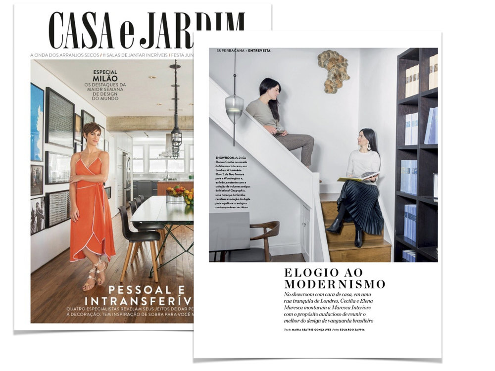 Casa e Jardim Magazine, Brazil - May 2018 - Feature on our Studio