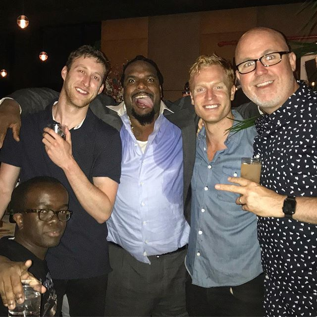 A trader, a ginger, a Super Bowl champion, a gay boxer, and a Zimbabwean dwarf walk into a bar... and somehow they're all BEST PALS! I LOVE my Barstool Breakfast crew!!! #barstoolbreakfast COME SEE ME: NYC Gotham Comedy Club Sept 7-8 link in bio!!