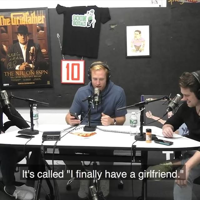 """""""I finally have a girlfriend""""- a poem I wrote to my new sweetheart. @kfcbarstool and @feitelberg were kind enough to let me read it on @kfcradio. Enjoy!"""