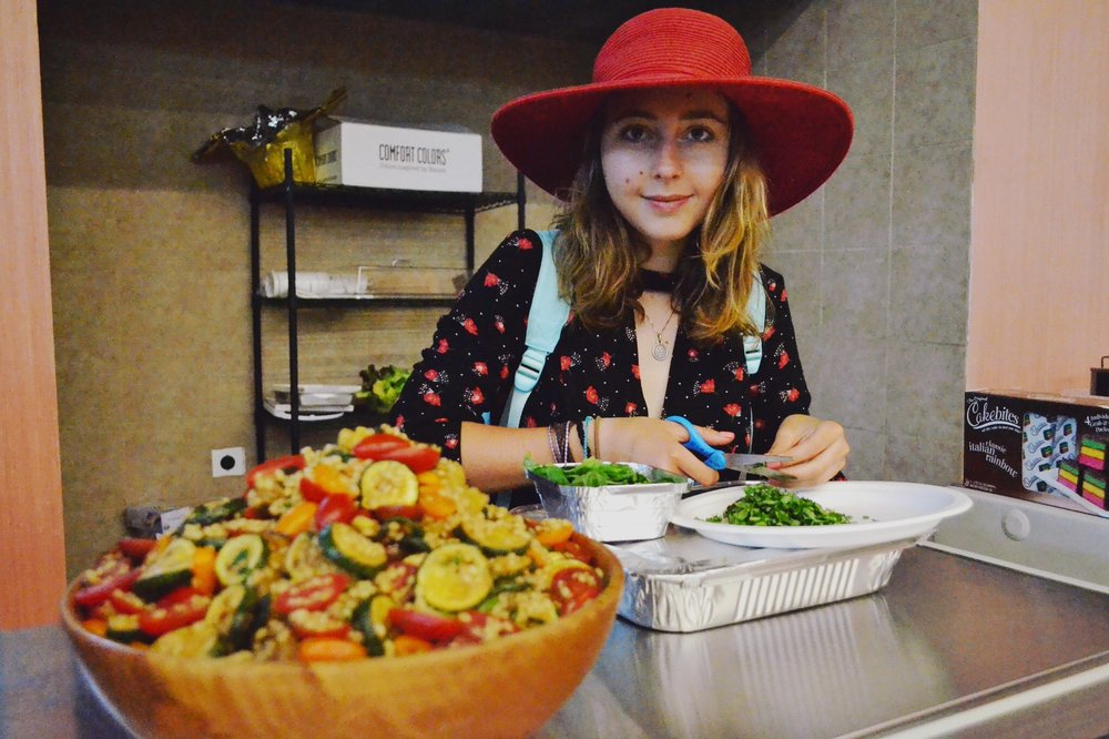 Mia preparing organic dinner.JPG