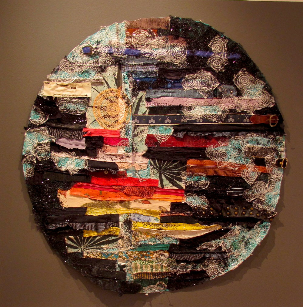 All That Is, Mixed Media on Canvas, 36 Diameter  Price available upon request.