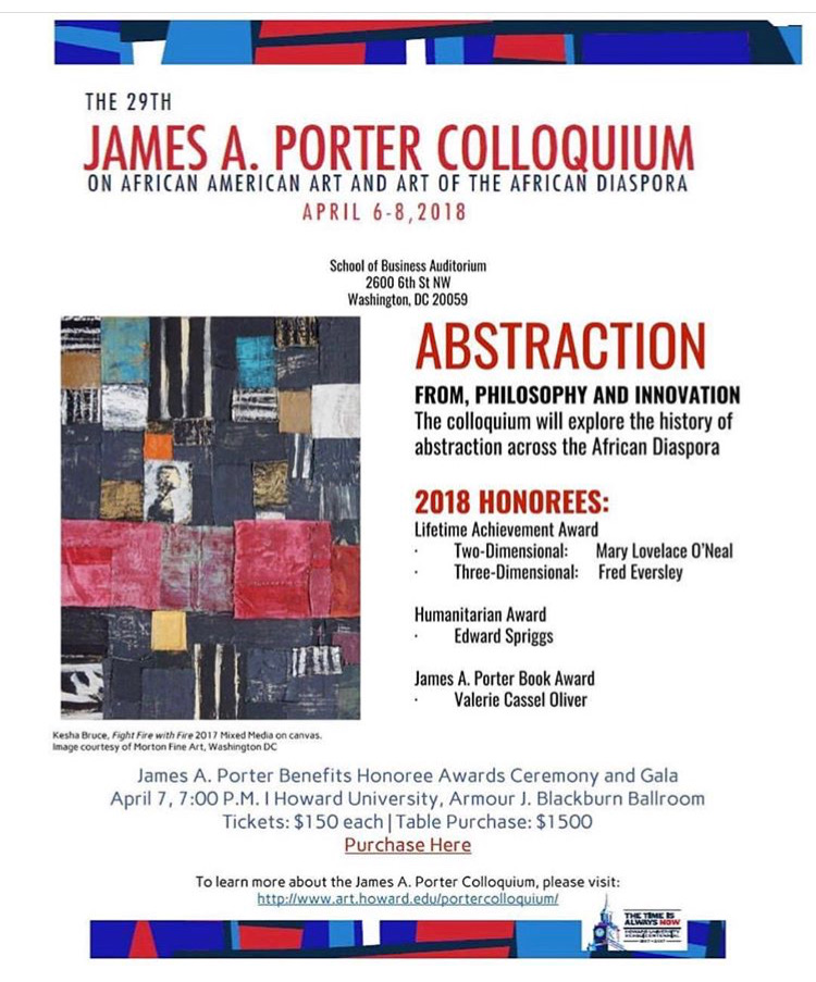Next up!!!! Saturday, April 7, 2018 2:15-3:15  Artist Panel: Materiality and Space at the @jamesa.portercolloquium1990  Panelists:  @jmaurelle @amberroblesgordon @gregory.coates   Panel Moderator:  Margo N. Crawford, Ph.D., Professor of English, Department of English, University of Pennsylvania #portercolloquium