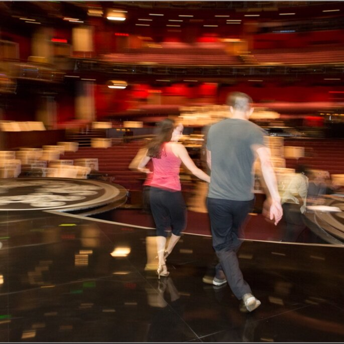 Channing Tatum and I rehearsing for the Academy Awards
