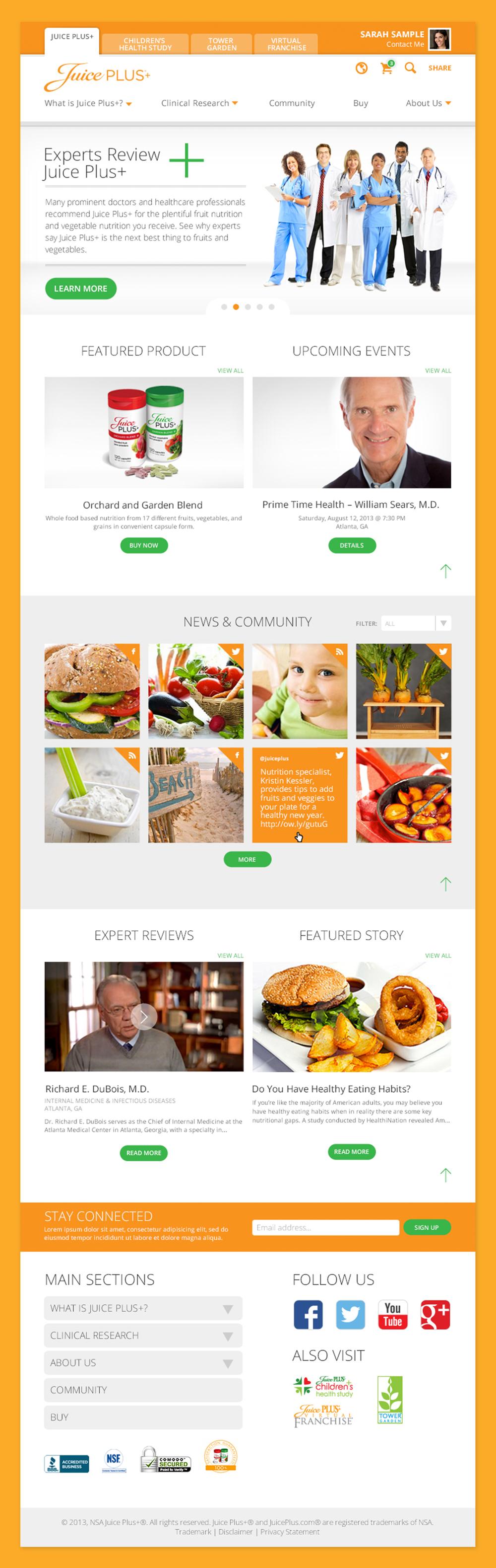 New Page 5 >> Juice Plus+ Website — Edelman Creative Work