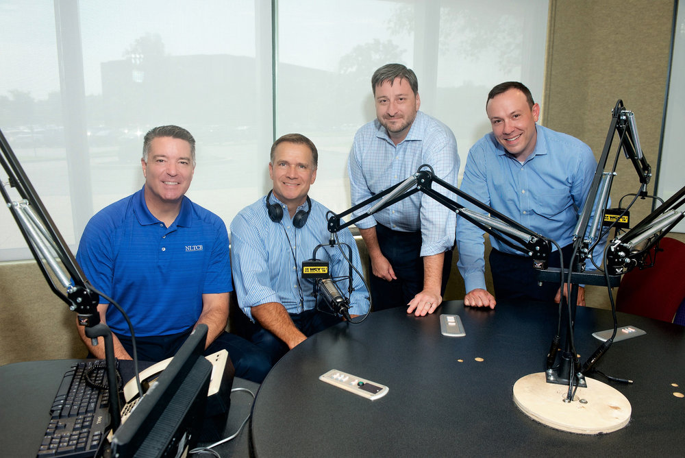 WGY's Life Happens Radio hosts Bob Vandy, Lou Pierro, Aaron Connor and Brian Johnson