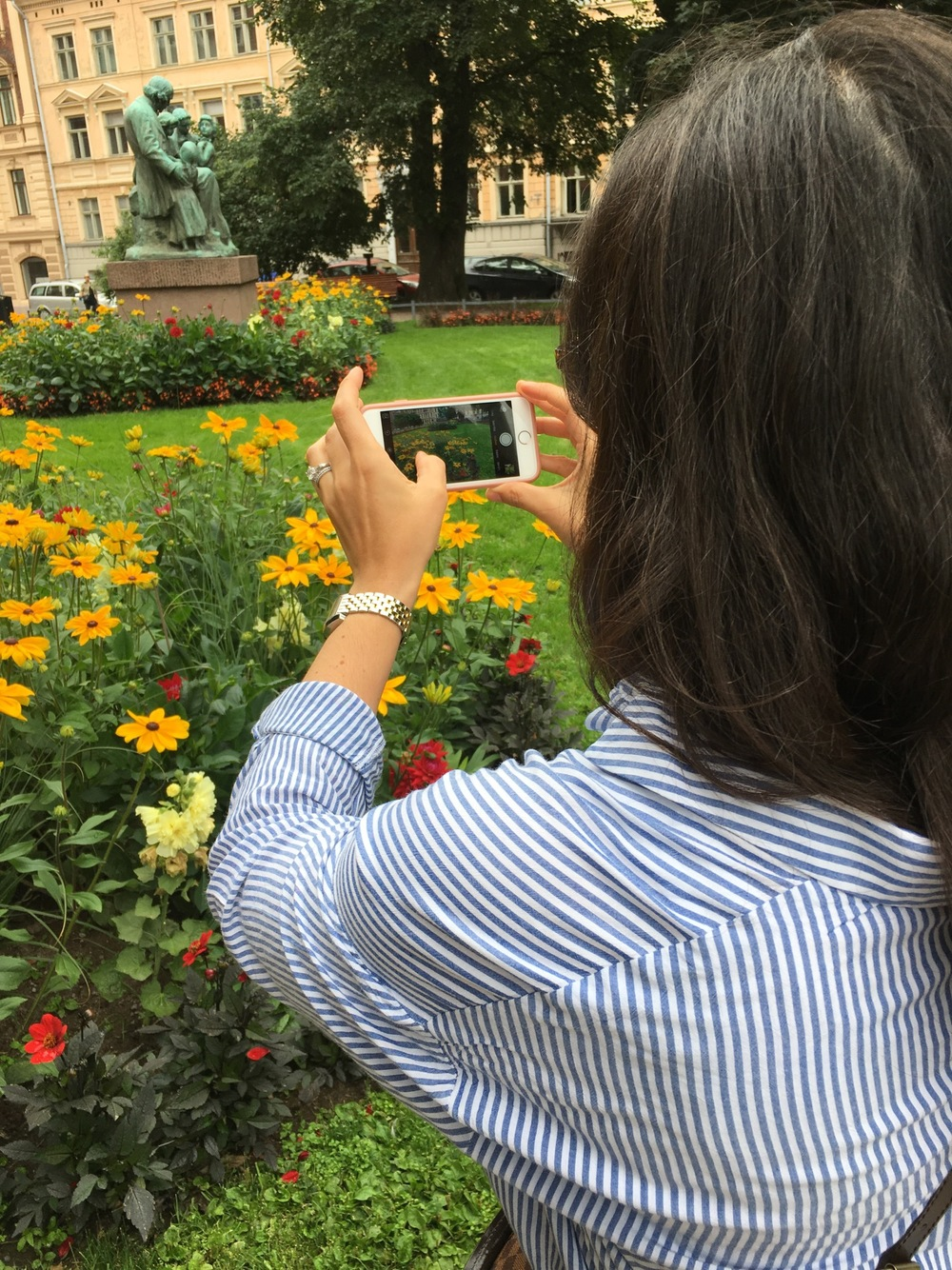 Dan caught me taking pictures of flowers - my favorite