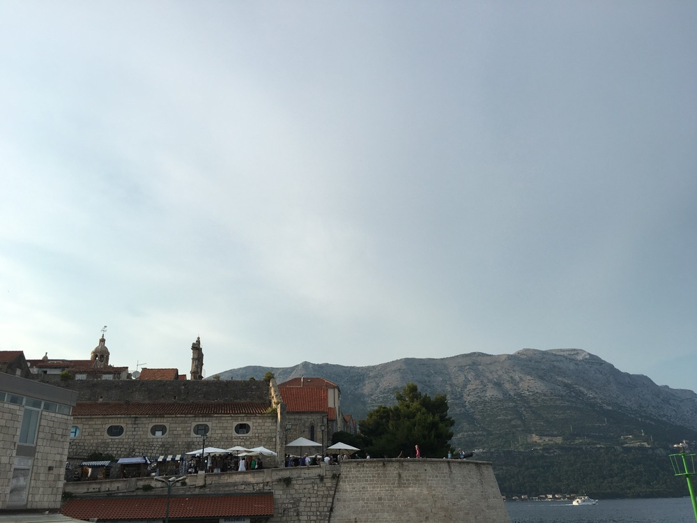 Stopping at Korčula