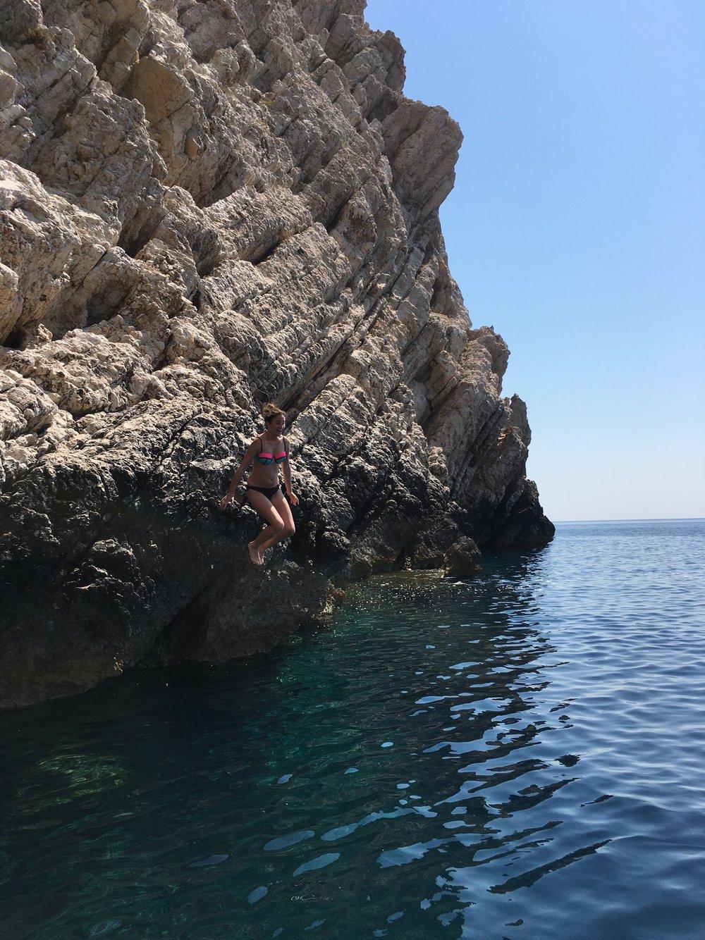 Jen cliff jumping