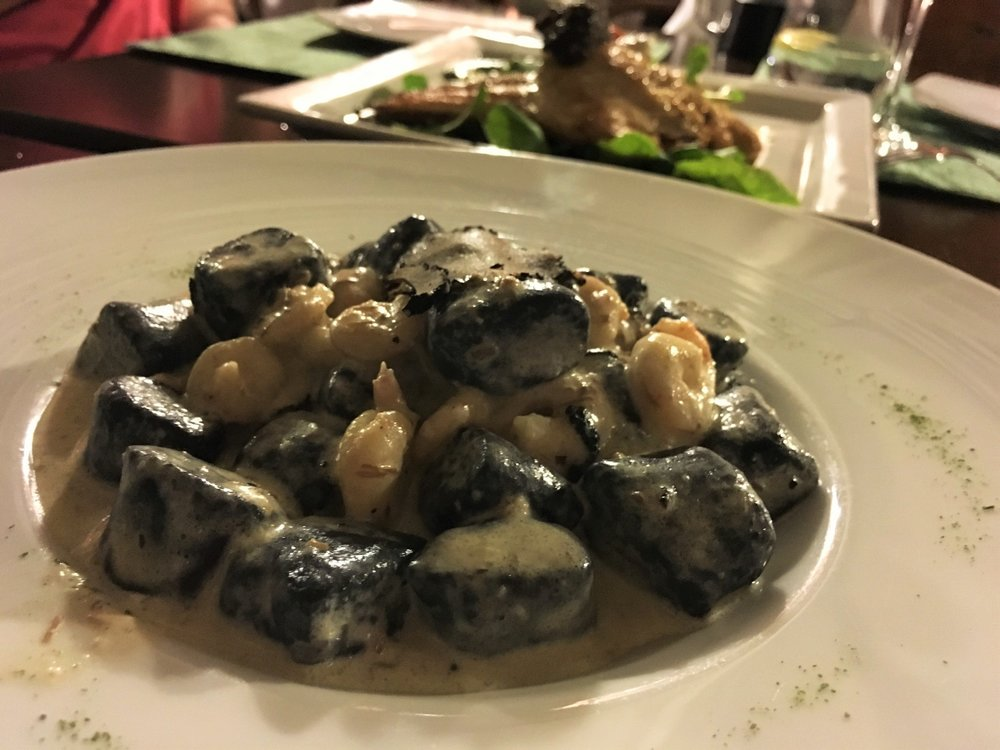 Gnocchi Istria. Do you see that huge slice of truffle on top?