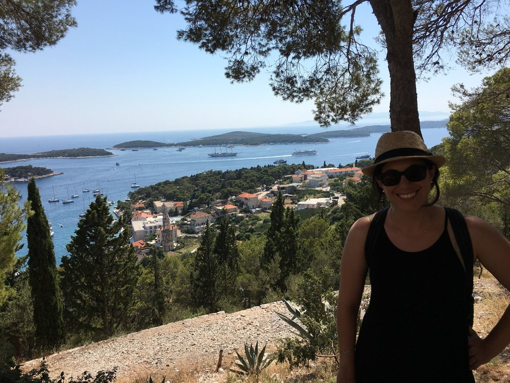 Morgan at Hvar Fortress overlook