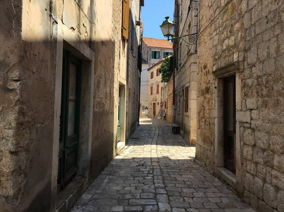 Streets of Stari Grad, the oldest town in Croatia