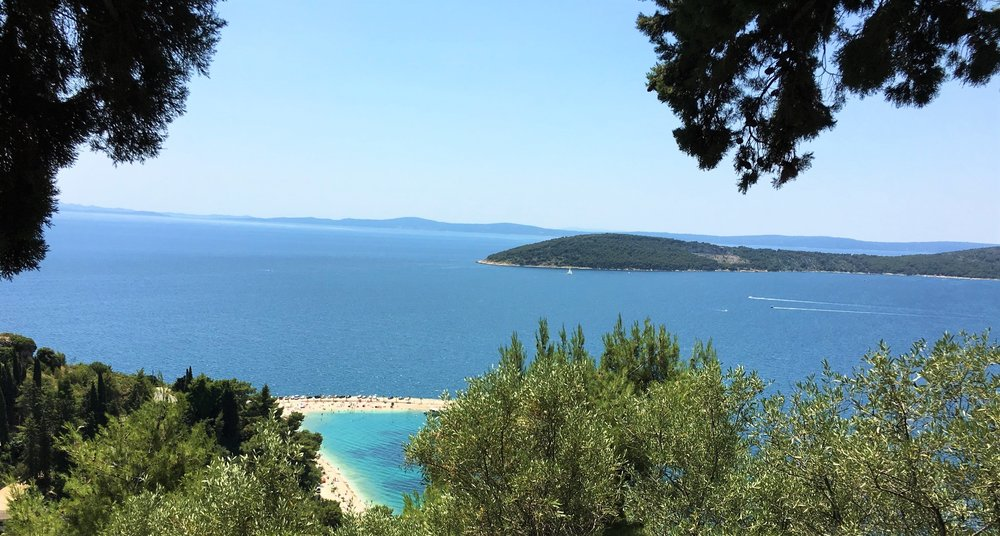 View of Kašjuni Beach from above