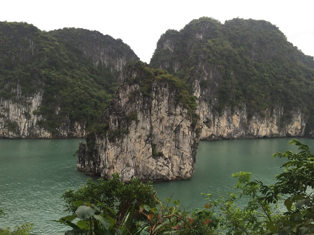 Ha Long Bay views.