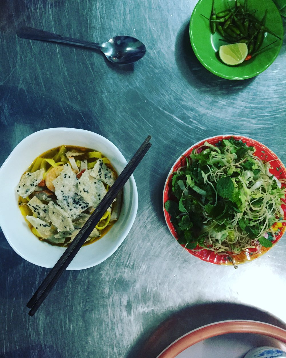 One of our amazing meals on a food tour with Saigon Street Eats.
