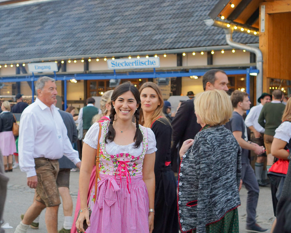 In my dirndl