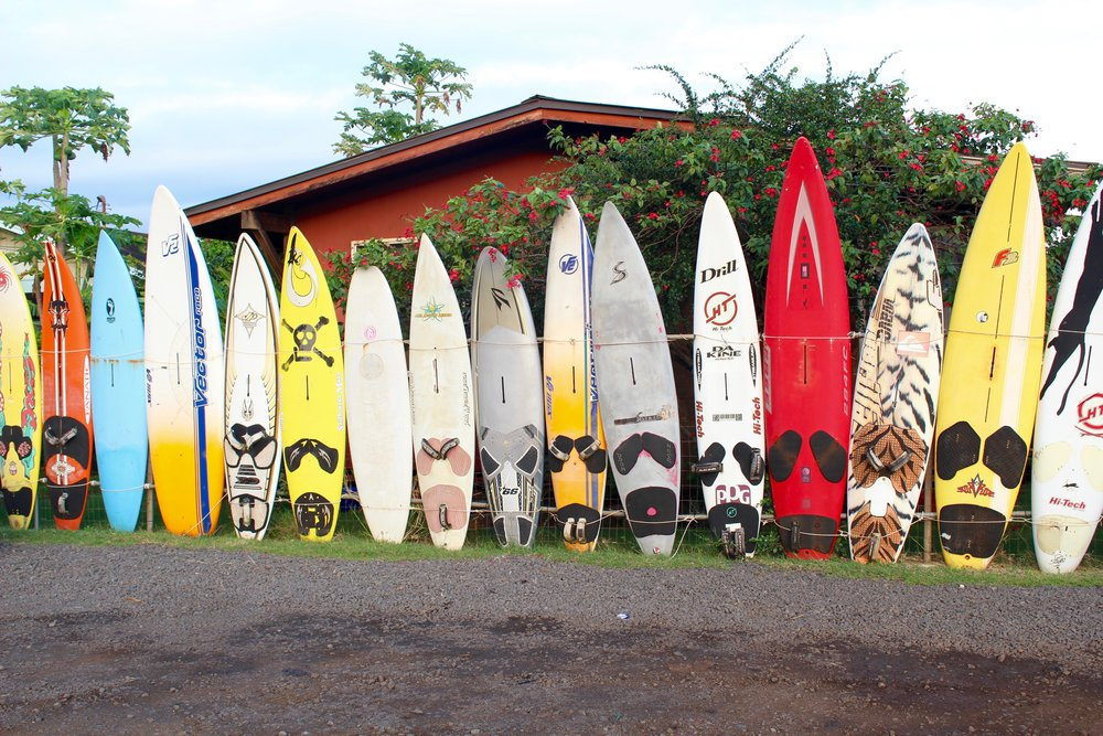 A fence made of surfboards!